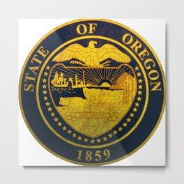 Oregon seal vintage Metal Print