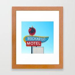 Buckaroo Motel Framed Art Print