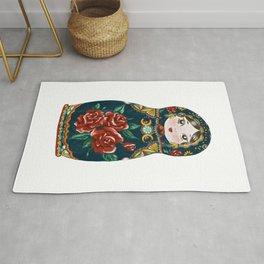 Intuition: Teal Matryoshka Doll Rug