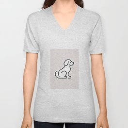 Dog Grey #2 Unisex V-Neck