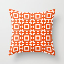 Moroccan Tiles Red Throw Pillow