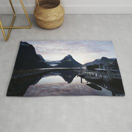 Sunset to die for at Milford Sound Rug