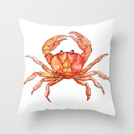 craby crab Throw Pillow