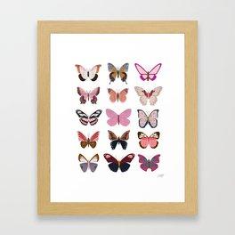 Pink Butterflies Gerahmter Kunstdruck