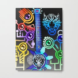Fusion Keyblade Guitar #54 - Fenrir & Photon Debugger Metal Print