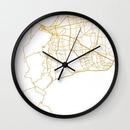 CAPE TOWN SOUTH AFRICA CITY STREET MAP ART Wall Clock