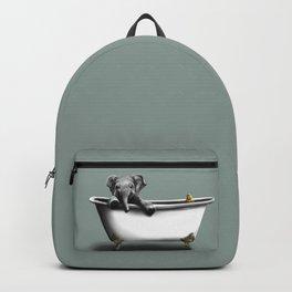 Elephant in Bath Backpack