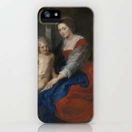 The Holy Family with the Parrot - Peter Paul Rubens iPhone Case