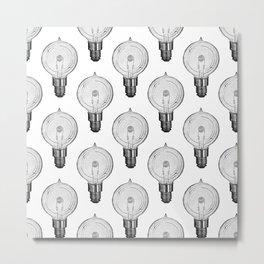 Vintage Light Bulbs Neck Gator Globe Light Bulb Metal Print