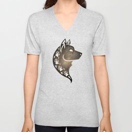 The Wolf (Brown) Unisex V-Neck