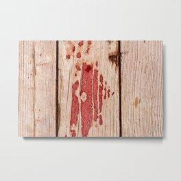 Thee Weathered Planks Of Wood Metal Print