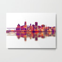 Akron Ohio Skyline Metal Print