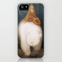 """The White Bear"" by Theodor Kittelsen iPhone Case"