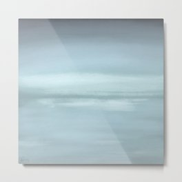 New Day 14 Relaxing Blue - Abstract Art Series Metal Print