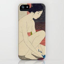 Woman after a bath by Goyo Hashinguchi, 1915 iPhone Case