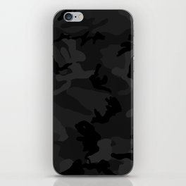 Camouflage Black iPhone Skin