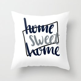 Home Sweet Home Connecticut Throw Pillow