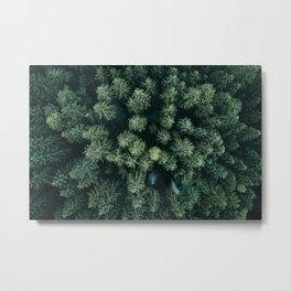 Forest from above - Landscape Photography Metal Print