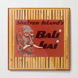 Tiki Art - Bali Hai on Bamboo Metal Print