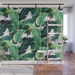 Tropical Banana leaves pattern Wall Mural