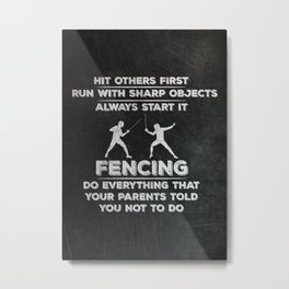 Fencer Metal Print