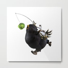 Fat Black Chocobo Mount Metal Print