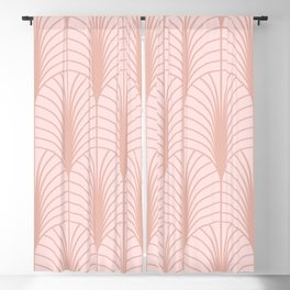 Arches in Pink Blackout Curtain