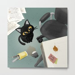 At the office Metal Print