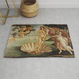 The Birth of Venus by Sandro Botticelli Rug