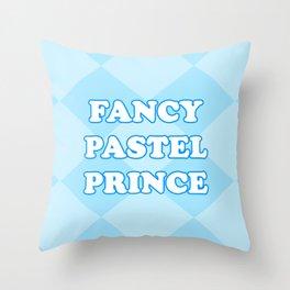 FANCY PASTEL PRINCE Throw Pillow