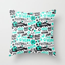 Art Football. Pattern#3 Throw Pillow