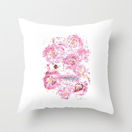 Botanical Impressions: CAMELLIA Throw Pillow