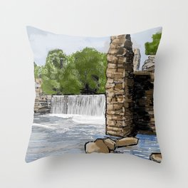 Boshell Mill's Remains Throw Pillow