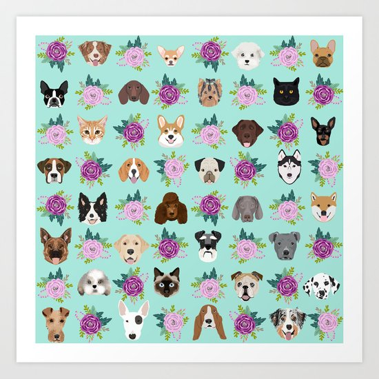 Dogs and cats pet friendly floral animal lover gifts dog breeds cat ladies by petfriendly