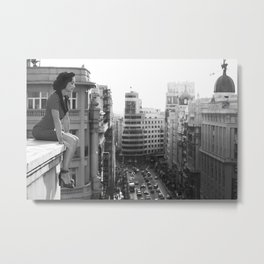 New York City Retro Metal Print