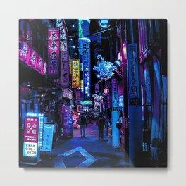 Tokyo Blade Runner Metal Print