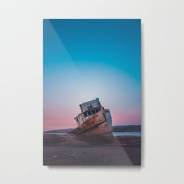 Point Reyes Shipwreck | Sunset Point Reyes Inverness California Landscape Travel Photography Metal Print