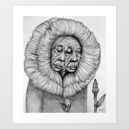 The Shawoman Art Print