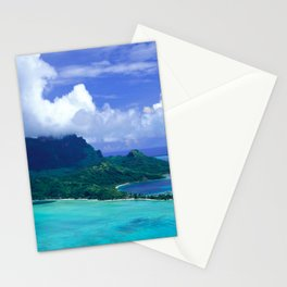 Tropical Tahiti Island Paradise From a Helicopter View Stationery Cards