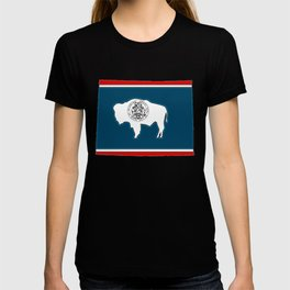 Wyoming Map with State Flag T-shirt