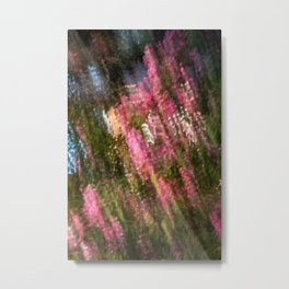 Flowering Crab Abstract Metal Print