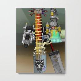 Fusion Keyblade Guitar #116 - Fenrir & Buster Sword Metal Print
