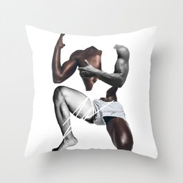 HANDSOME SQUAT BY ROBERT DALLAS Throw Pillow