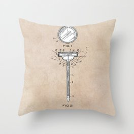 patent art Meat Termometer 1939 Throw Pillow