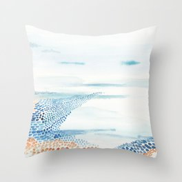 Beach shores Throw Pillow