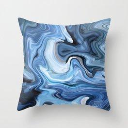 Marble texture print Throw Pillow