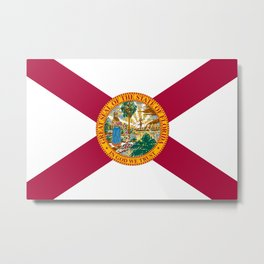Flag of Florida Metal Print