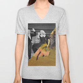 Henri Toulose Lautrec's Dance at Moulin R. & Ginger Rogers Unisex V-Neck