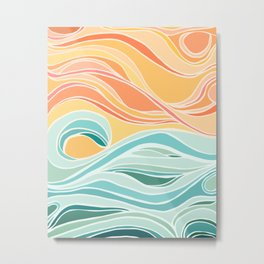 Sea and Sky II Metal Print