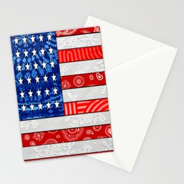 Retro American Flag Stationery Cards